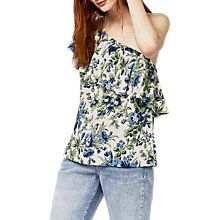 Buy Warehouse Lily Print One Shoulder Top, Multi Online at johnlewis.com