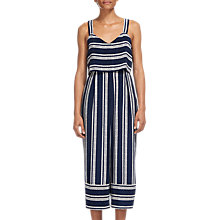 Buy Whistles Lucy Strappy Stripe Jumpsuit, Blue/Multi Online at johnlewis.com