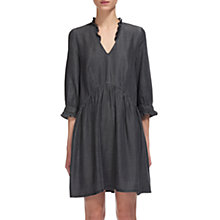 Buy Whistles Aneka Frill Denim Dress, Grey Online at johnlewis.com