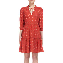 Buy Whistles Maggie Fleur de Lis Dress, Cinnamon/Multi Online at johnlewis.com