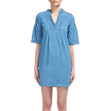 Buy Whistles Pintuck Detail Denim Dress, Denim Online at johnlewis.com