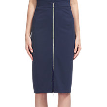 Buy Whistles Jersey Zip Tube Skirt, Navy Online at johnlewis.com