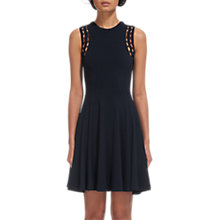 Buy Whistles Lace Shoulder Jersey Dress, Navy Online at johnlewis.com