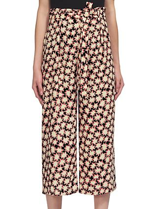 Whistles Star Print Tie Waist Trousers, Multi