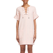 Buy Whistles Gemma Tie Front Dress, Pale Pink Online at johnlewis.com