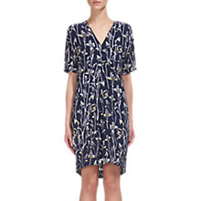 Buy Whistles Josie Wheatsheaf Print Dress, Navy Online at johnlewis.com