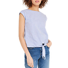 Buy Oasis Ticking Striped T-Shirt, Multi/Blue Online at johnlewis.com