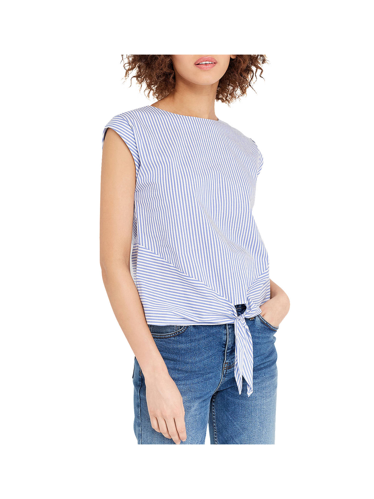 70aaa1f7f445 Buy Oasis Ticking Striped T-Shirt, Multi/Blue, 6 Online at johnlewis ...