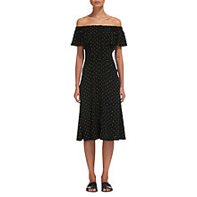 Buy Whistles Spot Cold Shoulder Dress, Blue Online at johnlewis.com