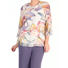 Buy Chesca Layered Chiffon Top, Blonde/Multi Online at johnlewis.com