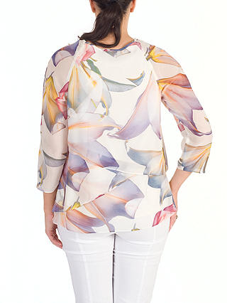 Buy Chesca Layered Chiffon Top, Blonde/Multi, 14 Online at johnlewis.com