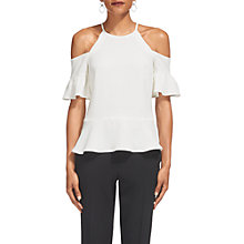 Buy Whistles Adele Cold Shoulder Top, Ivory Online at johnlewis.com
