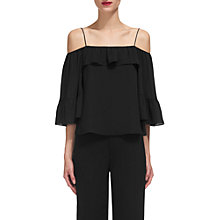 Buy Whistles Hayley Cold Shoulder Top, Black Online at johnlewis.com