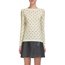 Buy Whistles Spot Printed Crew Neck Jumper, Multi Online at johnlewis.com