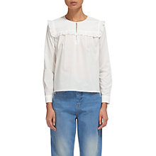 Buy Whistles Juliet Swing Blouse, Ivory Online at johnlewis.com