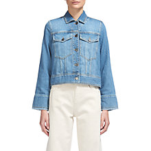 Buy Whistles Wide Sleeve Denim Jacket, Denim Online at johnlewis.com