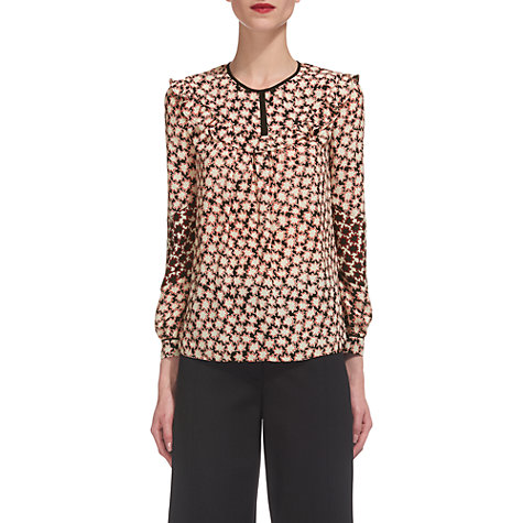 Buy Whistles Start Print Blouse, Red/Multi Online at johnlewis.com