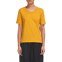 Buy Whistles Rosa Double Trim T-Shirt, Yellow Online at johnlewis.com