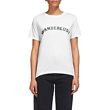 Buy Whistles Wanderlust T-Shirt, White Online at johnlewis.com