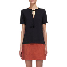 Buy Whistles Tassel Tie T-Shirt, Navy Online at johnlewis.com