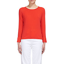 Buy Whistles Frill Wide Sleeve Top, Coral Online at johnlewis.com