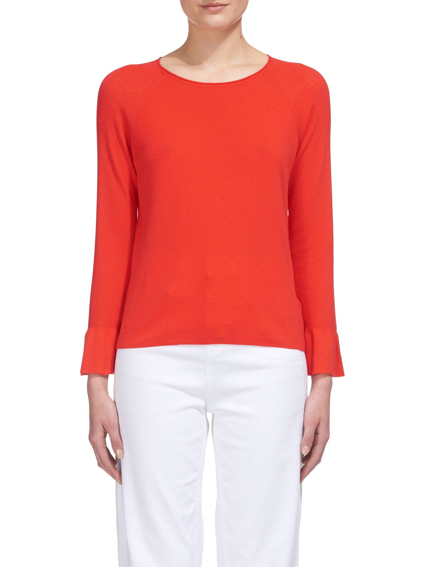 BuyWhistles Frill Wide Sleeve Top, Coral, XS Online at johnlewis.com