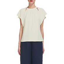 Buy Whistles Magda Slit Detail Top, Ivory Online at johnlewis.com