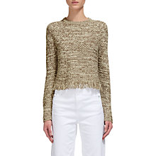 Buy Whistles Cross Stitch Fringe Hem, Multicolour Online at johnlewis.com