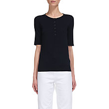 Buy Whistles Button Front Henley T-shirt, Navy Online at johnlewis.com