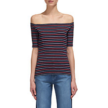 Buy Whistles Multi Stripe Bardot Top, Multi Online at johnlewis.com
