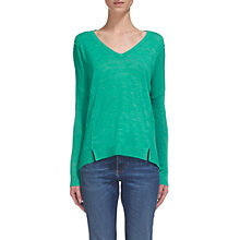 Buy Whistles V-Neckline Relaxed Knit, Turquoise Online at johnlewis.com