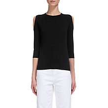Buy Whistles Cold Shoulder Knit Jumper, Navy Online at johnlewis.com