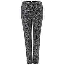 Buy Damsel in a dress Tribe Jacquard Trousers, Black/Ivory Online at johnlewis.com