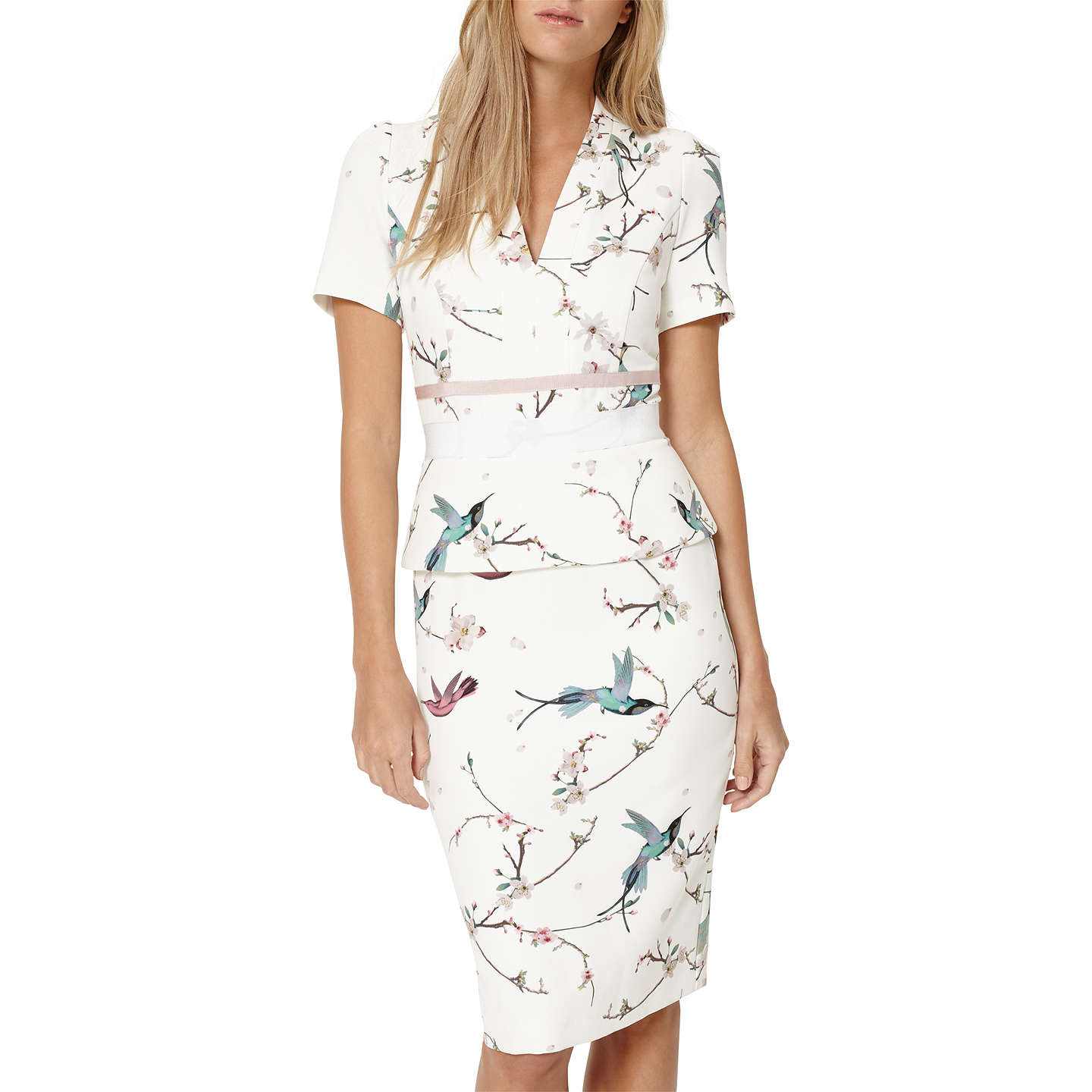 Damsel In A Dress Japanese Bird Print Dress, Multi At John