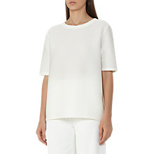 Buy Reiss Marcey Short Sleeve Textured Top, Off White Online at johnlewis.com