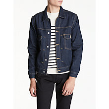 Buy Hawksmill Denim Co Organic Cotton Crinkle Denim Jacket, Raw Denim Online at johnlewis.com