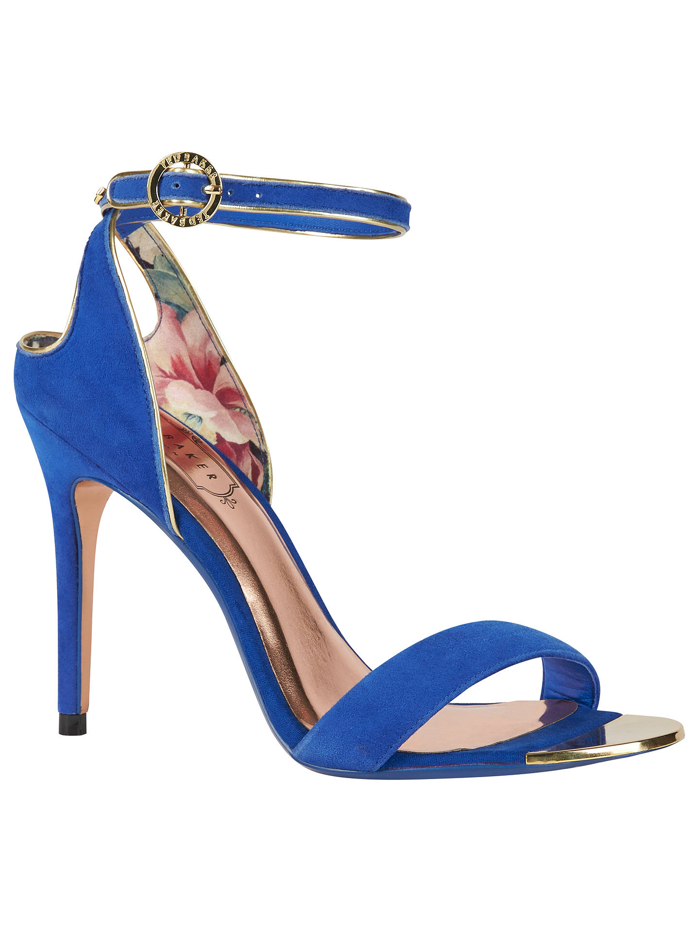 BuyTed Baker Mirobell Stiletto Heeled Sandals, Blue, 4 Online at johnlewis.com