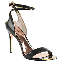 Buy Ted Baker Mirobell Stiletto Heeled Sandals, Black Online at johnlewis.com