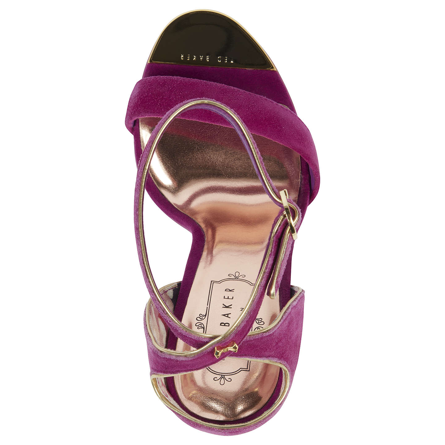 BuyTed Baker Mirobell Stiletto Heeled Sandals, Pink, 6 Online at johnlewis.com