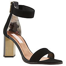 Buy Ted Baker Perlie Block Heeled Sandal, Black Online at johnlewis.com