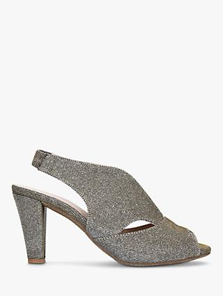 Carvela Comfort Arabella Cone Heel Open Toe Court Shoes