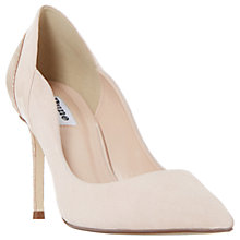 Buy Dune Bayly Stiletto Heeled Court Shoes, Rose Gold Online at johnlewis.com