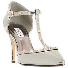 Buy Dune Cliopatra Studded T-Bar Court Shoes Online at johnlewis.com