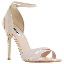 Buy Dune Marcy Stiletto Heeled Sandals, Rose Gold Online at johnlewis.com