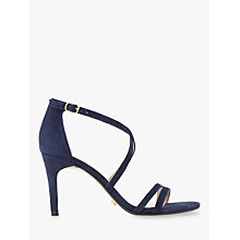 Buy Dune Mariela Cross Strap Stiletto Sandals, Blue Online at johnlewis.com
