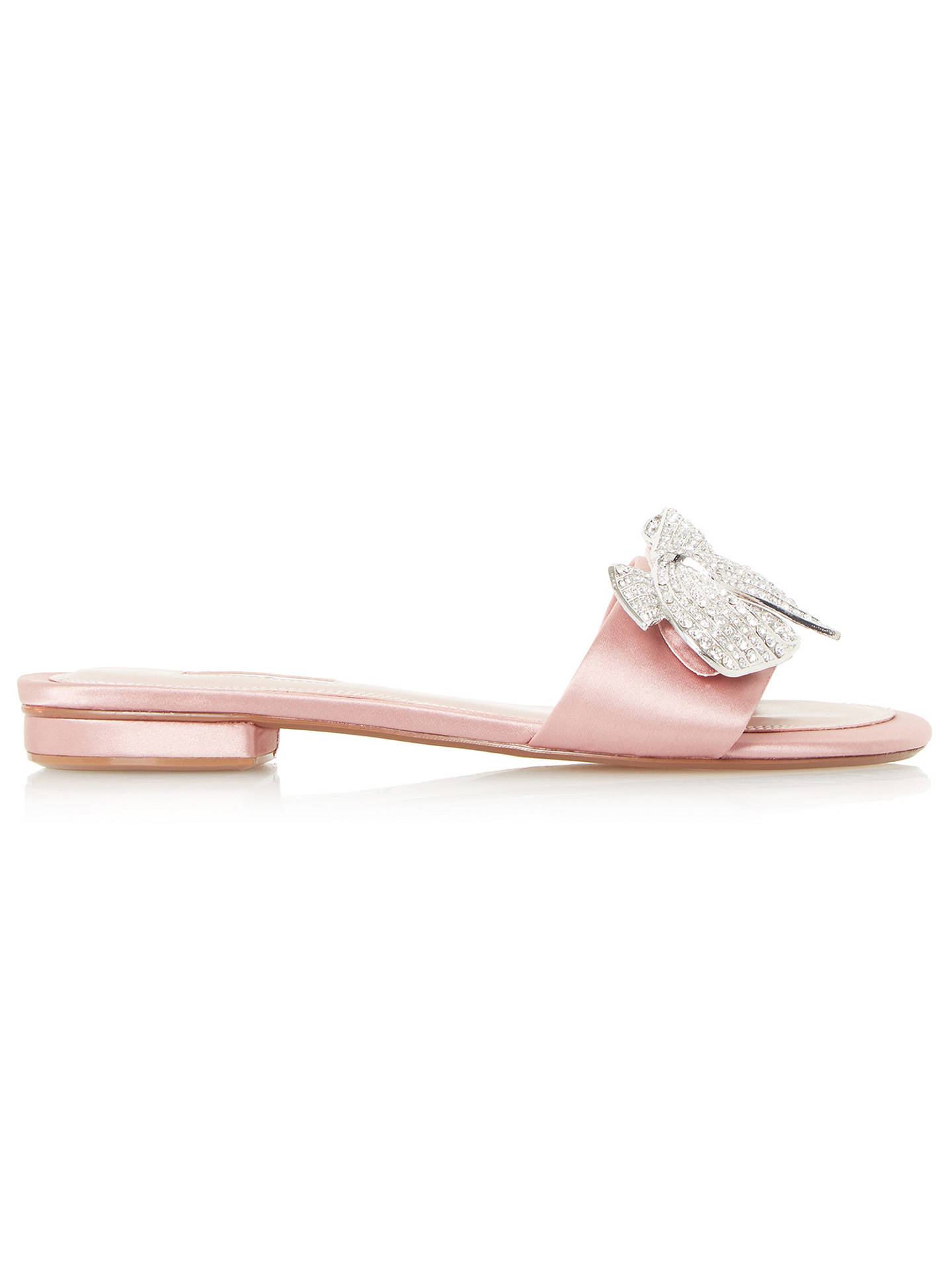 BuyDune Nixi Embellished Strap Slider Sandals, Blush, 5 Online at johnlewis.com