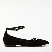 Buy AND/OR Havana Stud Detail Pumps, Black Suede Online at johnlewis.com