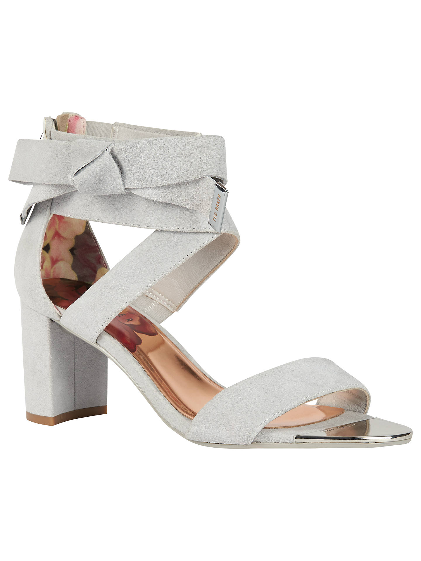 3490b69f4 Ted Baker Noxen Cross Strap Bow Sandals at John Lewis   Partners