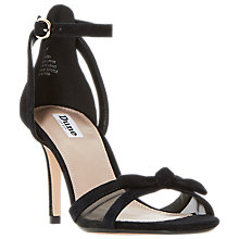 Buy Dune Mallow Stiletto Heeled Sandals, Black Online at johnlewis.com