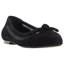 Buy Dune Bleame Bow Trim Ballet Shoes, Black Online at johnlewis.com